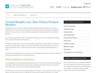 weightrater.com screenshot