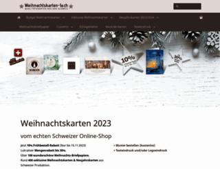 weihnachtskarten-1a.ch screenshot