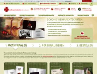 weihnachtskarten-druck.com screenshot