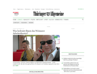 weimar.thueringer-allgemeine.de screenshot