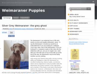 weimaranerpuppies.org screenshot
