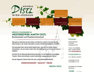 weinbau-distl.at screenshot