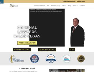 weinerlaw.wpengine.com screenshot