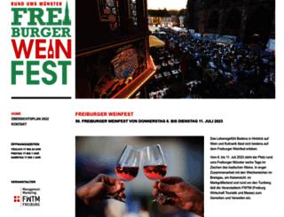 weinfest.freiburg.de screenshot