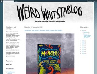 weirdwhitstable.blogspot.de screenshot