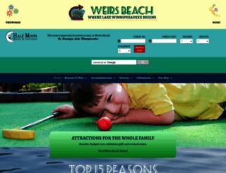 weirsbeach.com screenshot