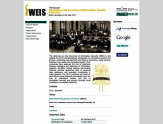weis2012.econinfosec.org screenshot
