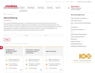 weiterbildung.cimdata.de screenshot