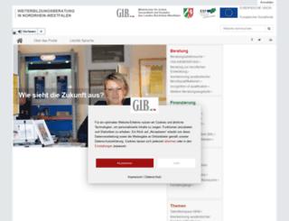 weiterbildungsberatung.nrw.de screenshot