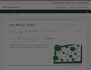 weka.pentaho.org screenshot