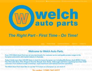 welchautoparts.com.au screenshot
