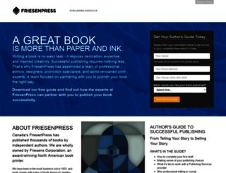 welcome.friesenpress.com screenshot