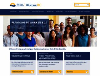 welcomebc.ca screenshot