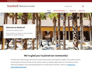 welcomecenter.stanford.edu screenshot