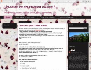 welcomeinmyfrenchcuisine.blogspot.com.tr screenshot