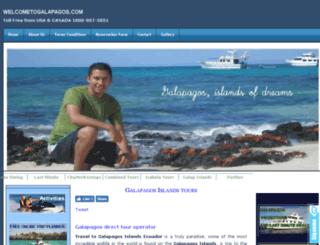 welcometogalapagos.com screenshot
