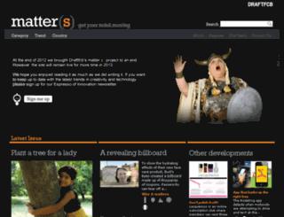 welcometomatters.com screenshot