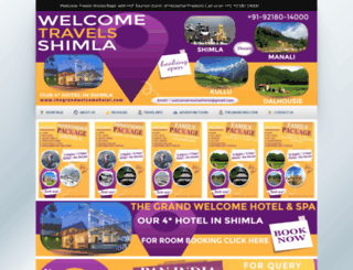 welcometravelsshimla.com screenshot