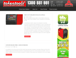 welders.tokentools.com.au screenshot