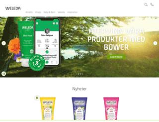 weleda.se screenshot
