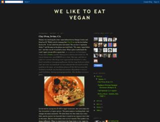weliketoeatvegan.blogspot.com screenshot