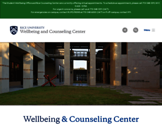 wellbeing.rice.edu screenshot