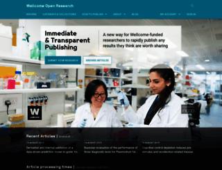 wellcomeopenresearch.org screenshot