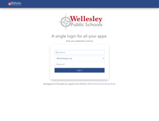 wellesley-public-schools.clearlogin.com screenshot