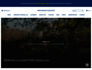 wellesley.edu screenshot