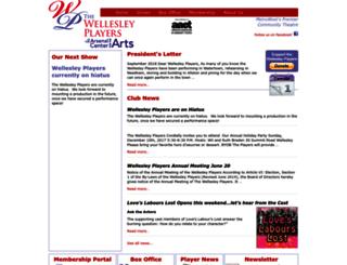 wellesleyplayers.org screenshot