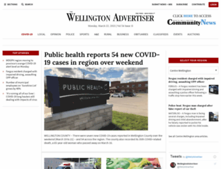 wellingtonadvertiser.com screenshot