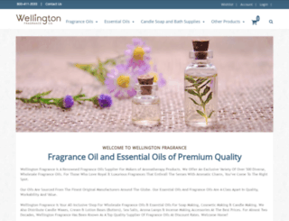 wellingtonfragrance.com screenshot