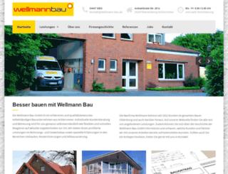 wellmann-bau.de screenshot