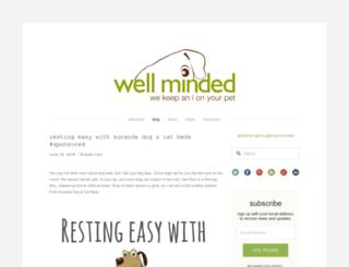 wellmindedpets.com screenshot