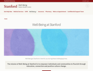 wellness.stanford.edu screenshot