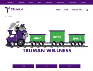wellness.truman.edu screenshot