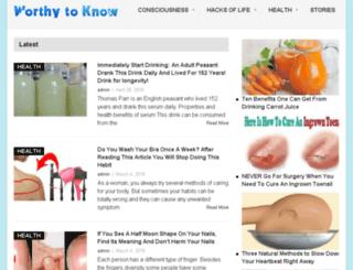 wellness.worthytoknow.com screenshot