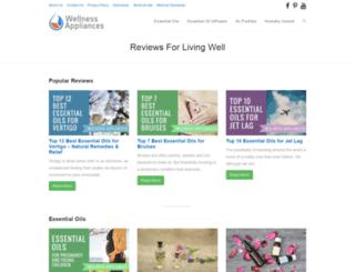 wellnessappliances.com screenshot