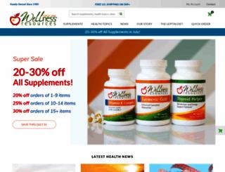 wellnessresources.com screenshot