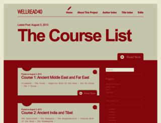 wellread40.com screenshot