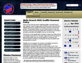 wellsbranchmud.com screenshot