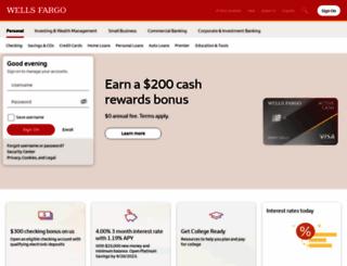 wellsfargobank.com screenshot