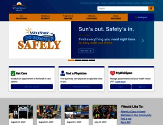 wellspan.org screenshot