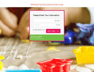 wellspring.curacubby.com screenshot