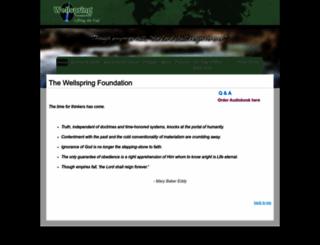 wellspring1866.org screenshot