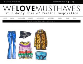 welovemusthaves.com screenshot