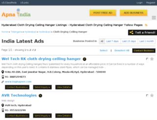 weltech-hyderabad.apnaindia.com screenshot