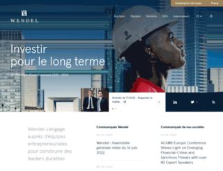 wendel-investissement.com screenshot