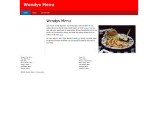 wendys-menu.com screenshot