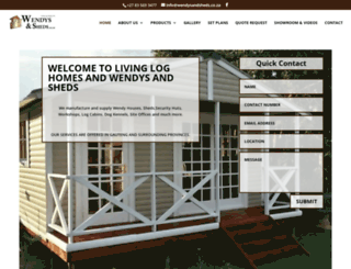 wendysandsheds.co.za screenshot
